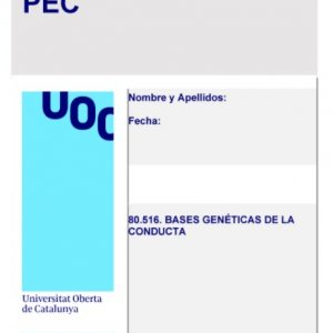 PEC Bases Genéticas de la Conducta