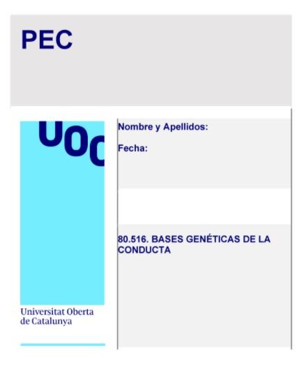 Bases Genéticas de la Conducta del Grado de Psicología de la UOC